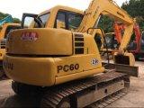 Excavador usado de la correa eslabonada de KOMATSU PC60-7 del excavador 6t