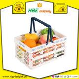Caixa Foldable plástica conveniente da cesta de compra