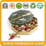 食糧のための八角形の金属チョコレートビスケットの錫は収納箱できる