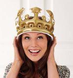 子供党のための膨脹可能なPVCおもちゃの王冠