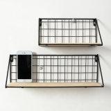 La griglia minimalista moderna del ferro accantona la cremagliera decorativa di rifinitura della parete della cremagliera di memoria della mensola della stanza da bagno della cucina