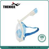 Máscara panorâmico do Snorkel da respiração 2017 fácil Anti-Fog face cheia de 180 graus