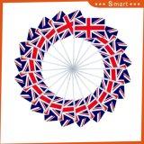 Оптовая торговля 100% полиэстер Напечатано в Великобритании стороны флаг с пластмассовой полюс