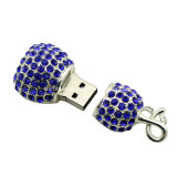 Palillo cristalino del USB de la joyería del collar de Pendrive de la memoria del USB