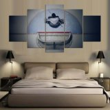 جدار يتمثّل فن [هد] طبعة نوع خيش قطرة يشحن 5 قطعات [إيس هوكي] ملصقات يعيش غرفة بيتيّة زخرفة حركة هيكل