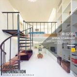 Scala del acciaio al carbonio di legno solido per la Camera moderna