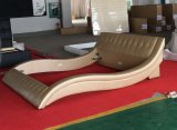 곡선 디자인 특별한 적절한 가죽 침대