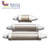 LEIDENE van de hoge Efficiency 100lm/W R7s J118 10W Lineaire leiden vervangen de Lichte Buis Met twee uiteinden van de Vloed van het Halogeen