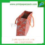 Vintage imprimé décoratif de conception de grands sacs-cadeaux en papier kraft avec poignée
