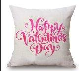 Coperchio di tela dell'ammortizzatore del cuscino di manovella del cotone di giorno dei biglietti di S. Valentino felici (35C0230)