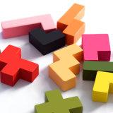 15 PCS Bloques de madera geométricas juguetes educativos para niños