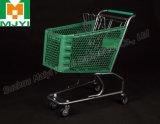 Plastiksupermarkt-bequeme Kleineinkaufen-Laufkatze