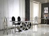 新しいデザインメルセデスのステンレス鋼のダイニングテーブル