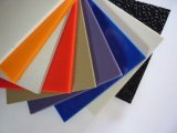 Hoja plástica de seda del grano PMMA/ABS de Brown para la decoración