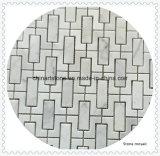 Mattonelle di mosaico di marmo di pietra bianche della Cina Bianco Carrara