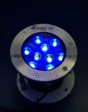 Pool de haute qualité de lumière LED RVB 9W Spotlight dans la norme IP68