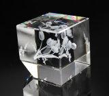 工場彫版のための直接安いホーム装飾の水晶3Dレーザーのブランク水晶立方体