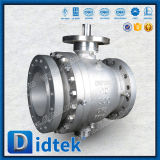 Válvula de esfera assentada metal do eixo de Didtek CF8