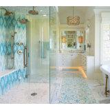 Il mosaico decorativo di vetro macchiato del cerchio riveste le mattonelle per l'interiore