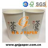 tazza di tè di carta stampata a gettare su ordinazione 8oz