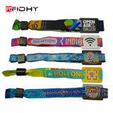 Custom Tomorrowland semelhantes tecidos da Pulseira de RFID com código QR BRACELETE NFC para festival de eventos