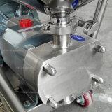 Aço inoxidável/Líquido ressalto do rotor da bomba de transferência de chocolate com funil de alimentação