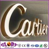 Signe commercial de l'acrylique DEL de mur de grand dos fait sur commande de support