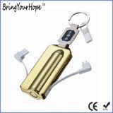 Bullet Design Power Банк 2000Ма/ч зарядный кабель USB Bulit-в (XH-PB-260)