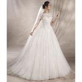 Короткие втулки Wedding платья Lb1828 отвесной шеи Tulle шнурка мантий шарика Bridal