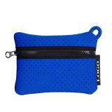 青い穴があいたネオプレンのトートバックのネオプレンのハンドル袋のネオプレンのショッピング・バッグ