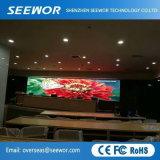 Konkurrenzfähiger Preis P4 farbenreicher LED-Innenbildschirm mit dem 512*512mm Schrank