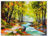 Paysage abstrait mur de l'impression à la main peinture huile sur toile