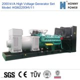 Hochspannungsset des generator-2000kVA 10-11kv mit Googol Motor 50Hz