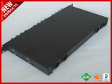 12 SC Duplex PC Patch Panel de fibra óptica de ODF