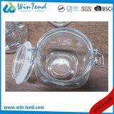Copo de vidro de armazenamento de cozinha grossista canister com tampa de encaixar