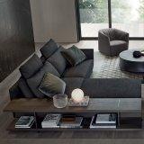 Wohnzimmer-ledernes Sofa für Hotel-Projekt-moderne Haus-Möbel