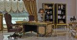 Scrittorio classico di studio di legno solido Europ di disegno reale dorato di 0061