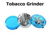 Trituradora de aluminio de la hierba de la amoladora del tabaco con la manivela 3 porciones