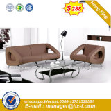 Italia clásica de madera de diseño de mobiliario de oficina oficina de cuero sofá (HX-SN8088)