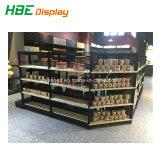 Banco di mostra di legno del pane di cottura del supermercato di figura rotonda