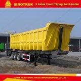 Wellen-vorderer Lastkraftwagen- mit Kippvorrichtungschlußteil-Speicherauszug-halb Schlussteil China-Fabrik 10m-3