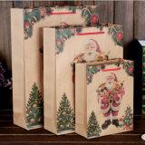 Оптовая продажа мешка подарка бумаги рождества высокого качества