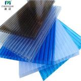 Anti-Rayer la feuille creuse de polycarbonate