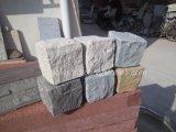 Figura giardino grigio-chiaro/scuro del granito/del cubo/bordo/ventilatore grigi/rossi/gialli del ciottolo/pietre per lastricati per l'abbellimento/parcheggio/strada privata/passaggio pedonale