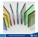 부드럽게 한 공간 또는 분홍색 파란 단백석 또는 또는 Windows 유리를 위한 건물 유리는 박판으로 만들었다