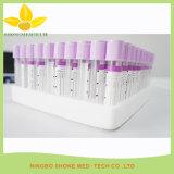 Câmara de ar plástica da análise de sangue da esterilização com tampão roxo