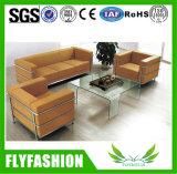 forniture comode larghe della casa o di ufficio del sofà di modo del sofà del cuoio genuino of-16