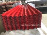 Die galvanisierte Dach-Blatt-Fabrik passte Farbe galvanisiert Roofing Blatt mit 665mm an