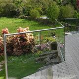 Het Traliewerk van het Glas van het Ontwerp van het Balkon van het Kanaal van U van het aluminium