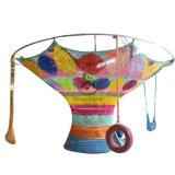 Спортивная площадка малышей крытая связанная сетчатая взбираясь с сильной цветастой Nylon веревочкой